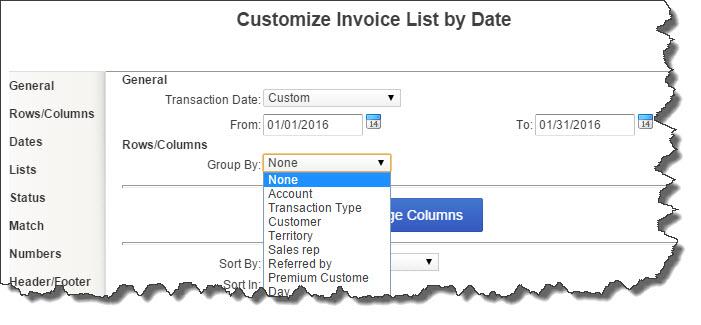 Quickbooks Online Abundance In Business LLC - Quickbooks invoice report by date